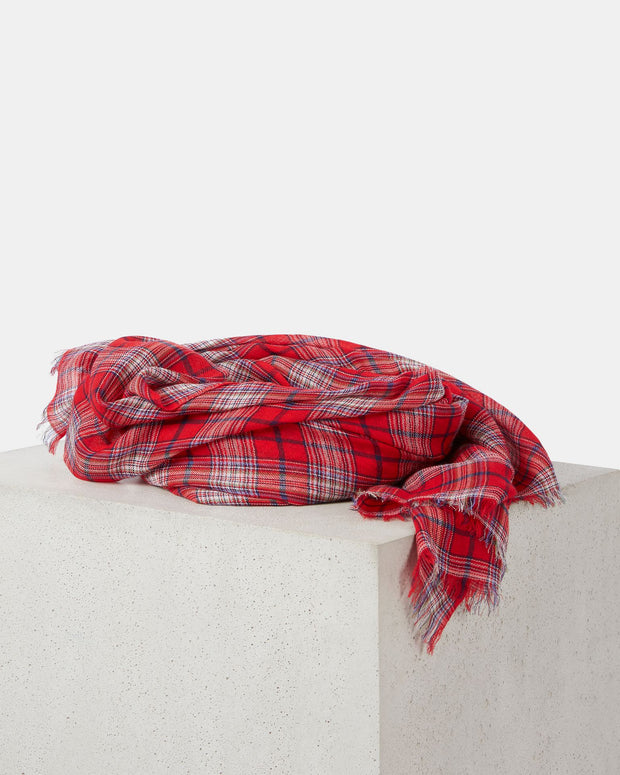 Woody Plaid Scarf