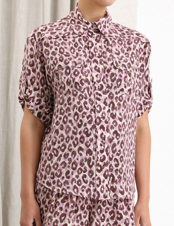 Super Eight Silk Safari Shirt