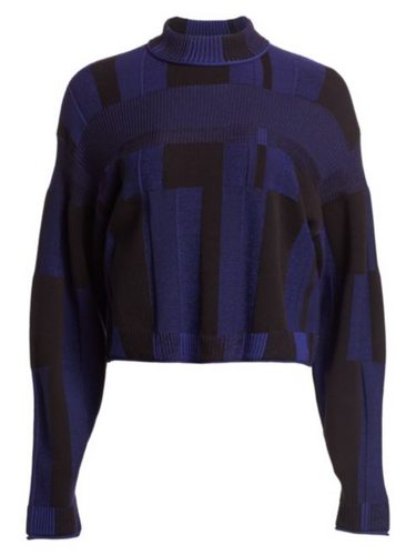 PROENZA SCHOULER - Patchwork Plaid Knit Crewneck