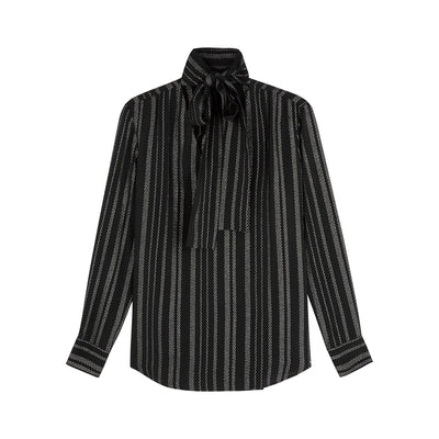 ALTUZARRA - Visage Metallic Stripe Top