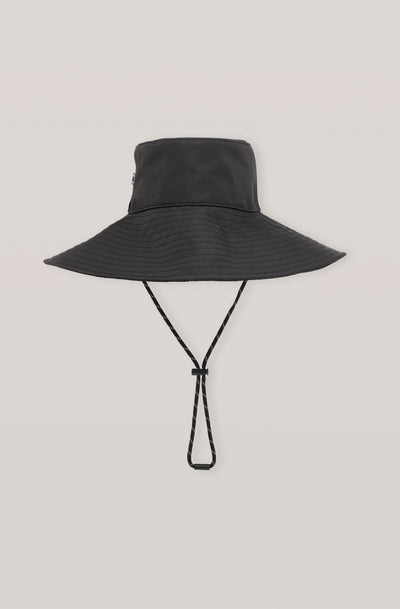GANNI - Black Tech Fabric Hat