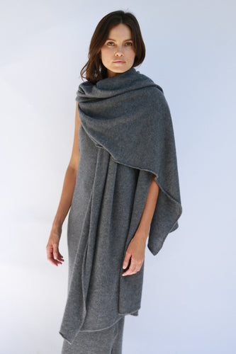OATS CASHMERE - Adele Charcoal Scarf