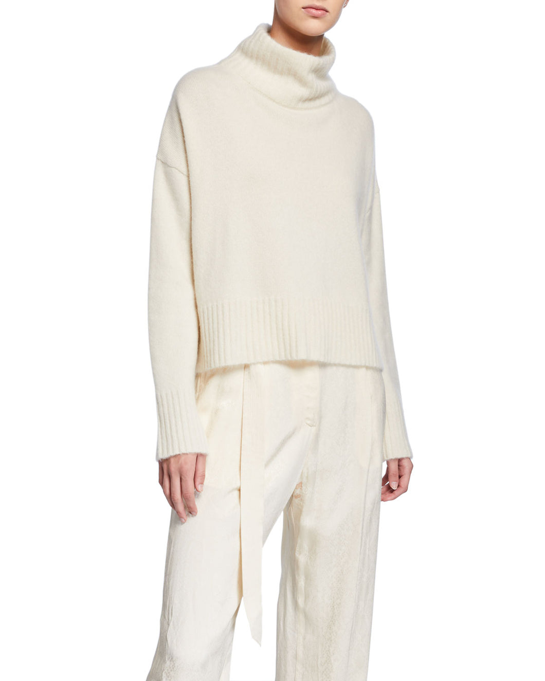 SALLY LAPOINTE - Cashmere Turtleneck Sweater
