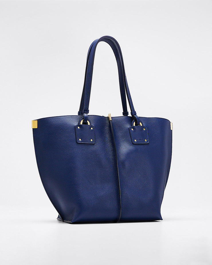 CHLOE - Vick Wide Leather Tote Bag
