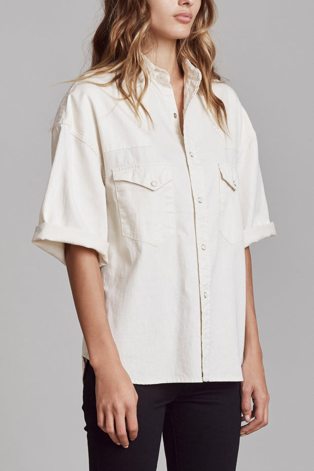 R13 - Oversized Short Sleeve Cowboy Shirt