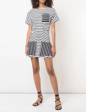 DEREK LAM 10 CROSBY - Short Sleeve Crewneck Dress with Flared Skirt