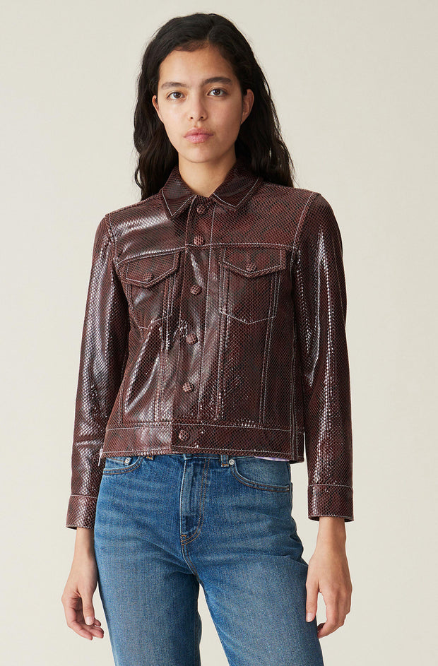 Snake Foil Leather Jacket