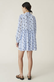 Brunnea Blue Printed Georgette Dress