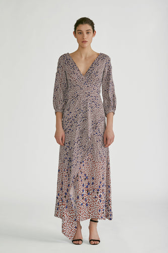 YIGAL AZROUEL - Falling Leaf Midi Dress