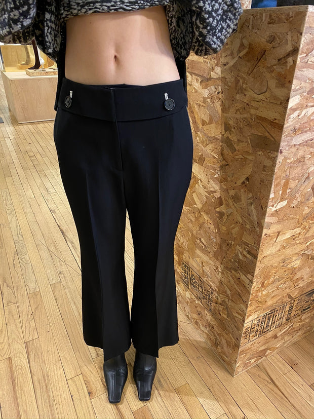 Viscose Silk Suiting Flare Pants