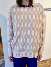 RAQUEL ALLEGRA - Tie Dye Fleece Oversized Sweatshirt
