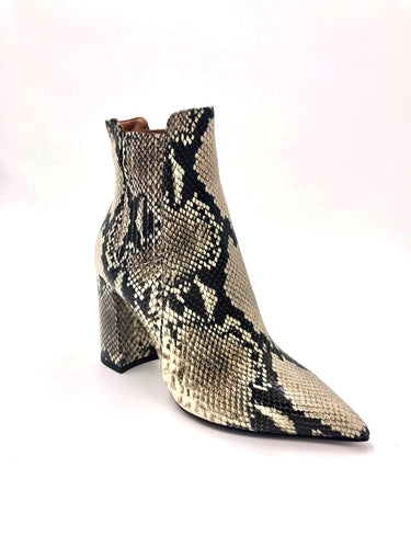 TABITHA SIMMONS - Square Heel Python Bootie