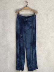 Blue Tie Dye Pleated Pant