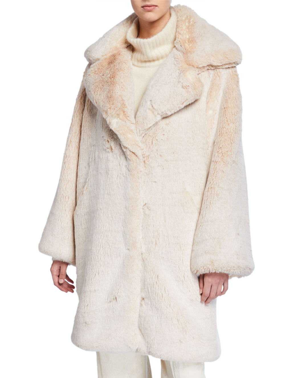 SALLY LAPOINTE - Oversized Faux Fur Coat