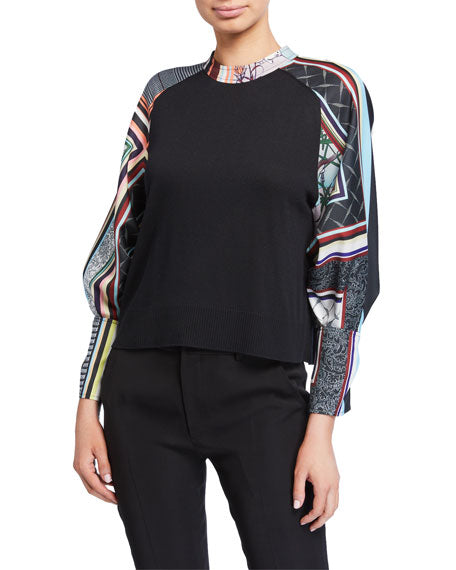 ADEAM - Bow Cuff Printed Sweater