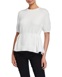ADEAM - Short Sleeve Knit with Drape Back