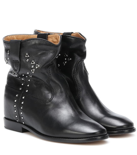 ISABEL MARANT - Cluster Studded Leather Ankle Boots