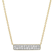 ERINESS - DIAMOND STAPLE NECKLACE