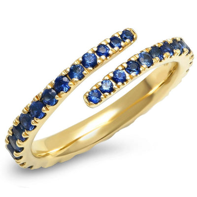 ERINESS - Blue Sapphire Wrap Ring