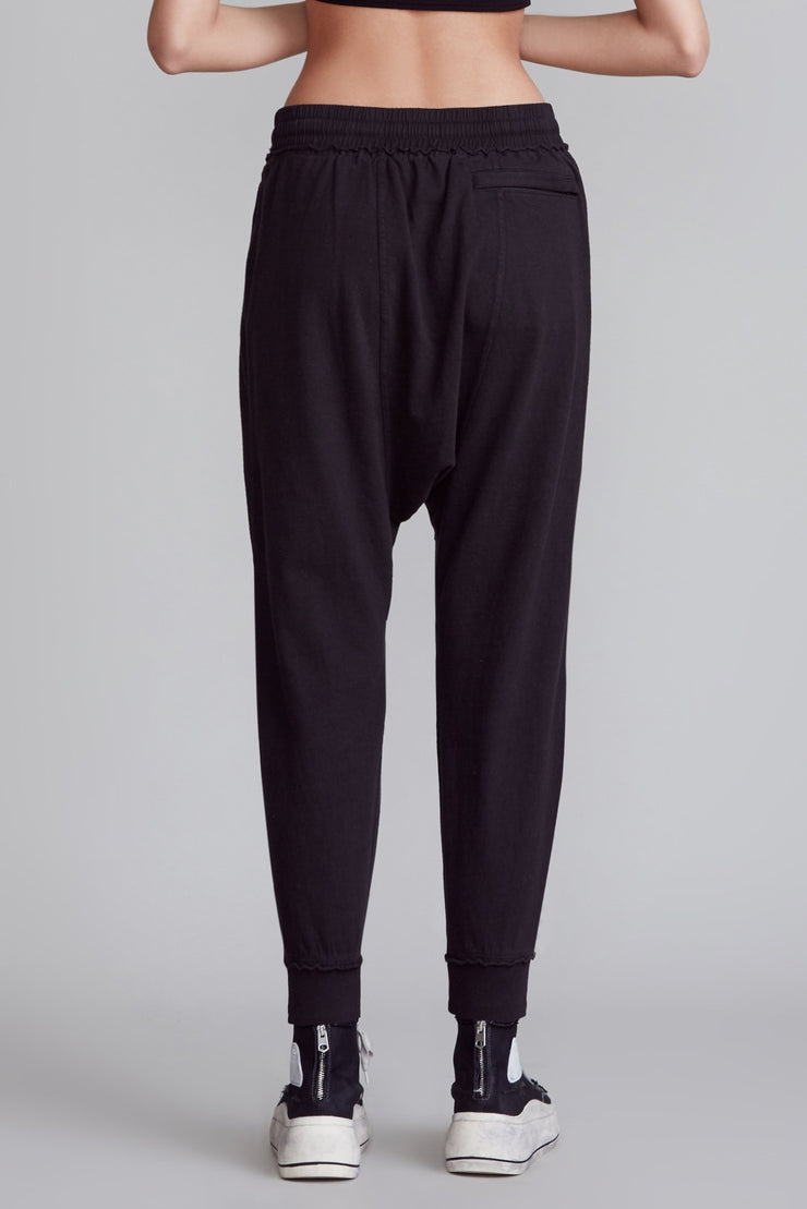 R13 Dropped-crotch Cropped Track Pants
