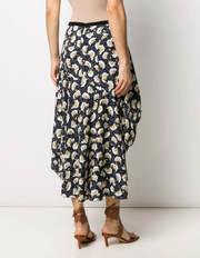 Bouquet printed skirt