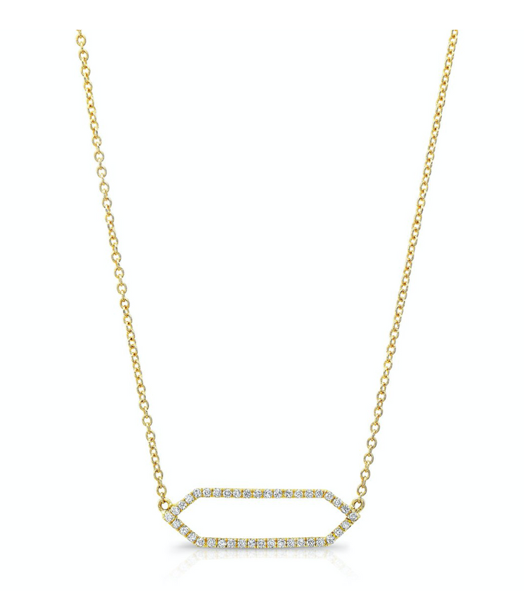 All Diamond Mini Marquis YG Necklace