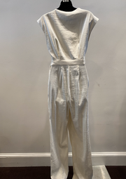 LINEN WRAP D RING JUMPSUIT