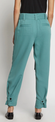 Belted Rumple Pique Pant