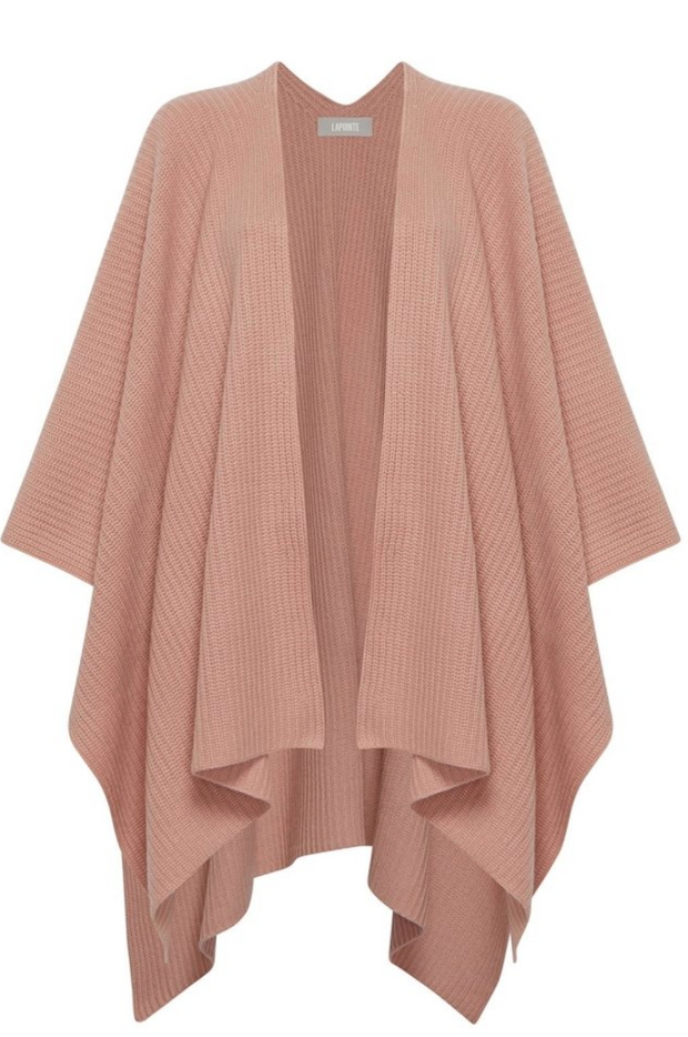 Ribbed Cashmere Cape