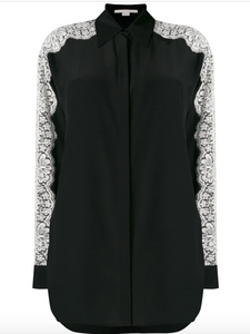 STELLA MCCARTNEY - Lace Sleeve Shirt