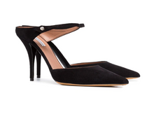 TABITHA SIMMONS - Allie Black Suede Mules