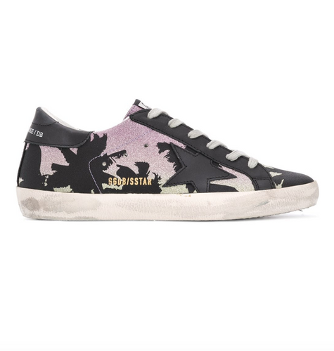 GOLDEN GOOSE DELUXE BRAND - Glitter Palm Superstar