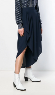 Slit Front Pleat Gaucho