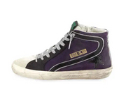 GOLDEN GOOSE DELUXE BRAND - Violet Hi Top with Silver Laces