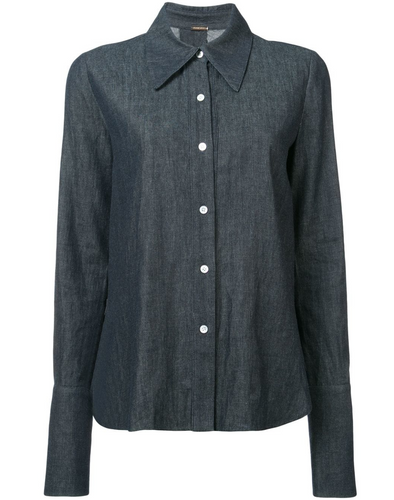 ADAM LIPPES - Chambray Button Up with Cross Back