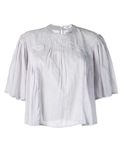 ISABEL MARANT - Algar Voile 3/4 Sleeve top