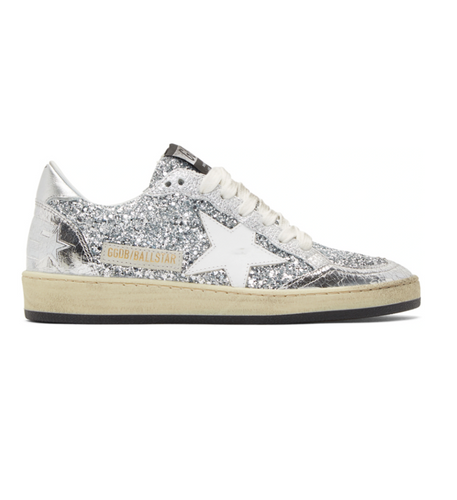GOLDEN GOOSE - Silver Glitter Ball Star