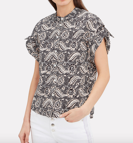 VERONICA BEARD- Sanna Printed Top