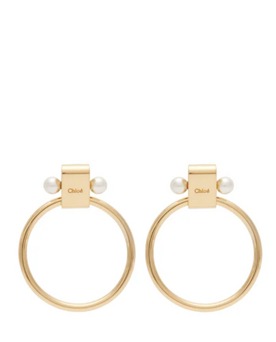 CHLOÉ - Darcey Pearl Circle Earrings