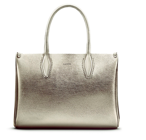 LANVIN - Medium Metallic Shopper
