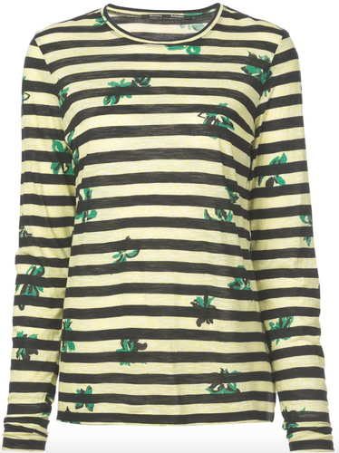 PROENZA SCHOULER - Striped Printed Tee