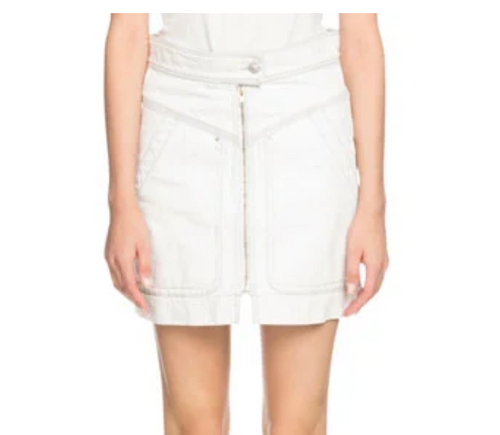 ISABEL MARANT ÉTOILE - Ioline Denim Zipper Skirt