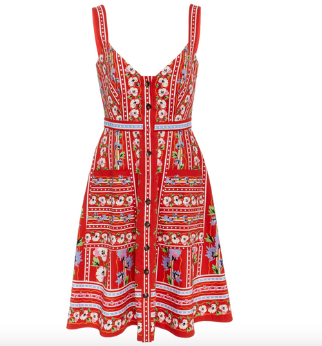 SALONI - Fara Red Short Tank Dress