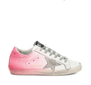 White Superstar W/Pink Spray