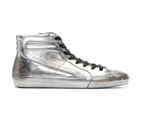 GOLDEN GOOSE - Silver Slide Hi Top