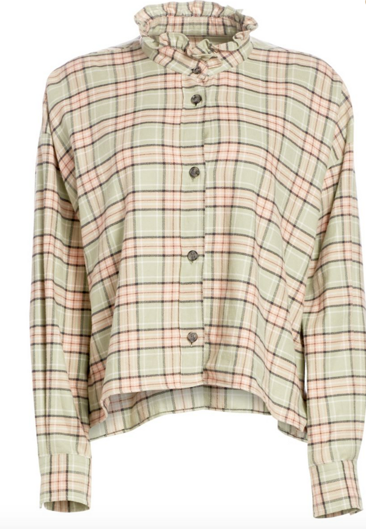 Ilaria Plaid Slouch Top