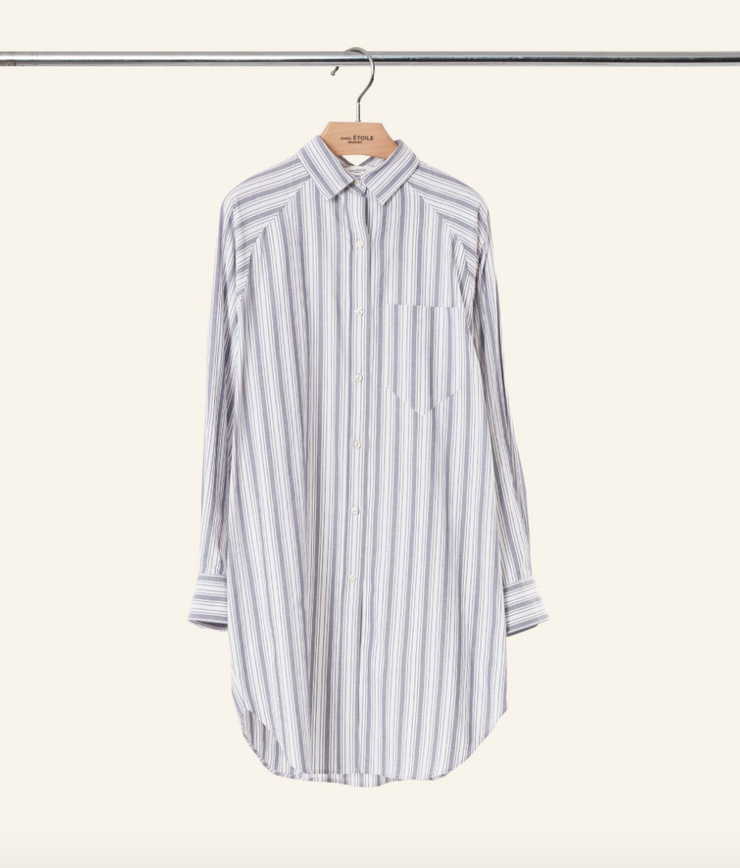 Sanders Striped Shirtdress
