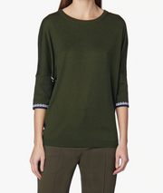 DEREK LAM - Dolman Knit With Print Back