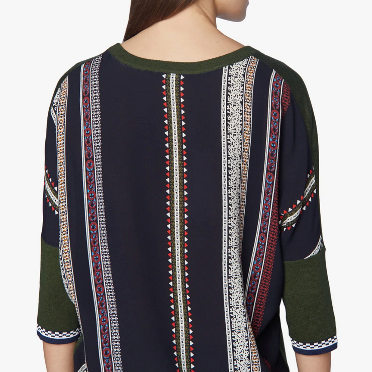 Dolman Knit With Print Back