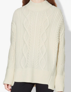 PROENZA SCHOULER - Long Sleeve Cable Turtle Neck Knit